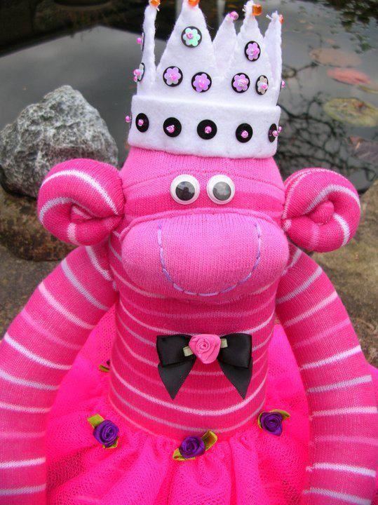 Princess sock monkey