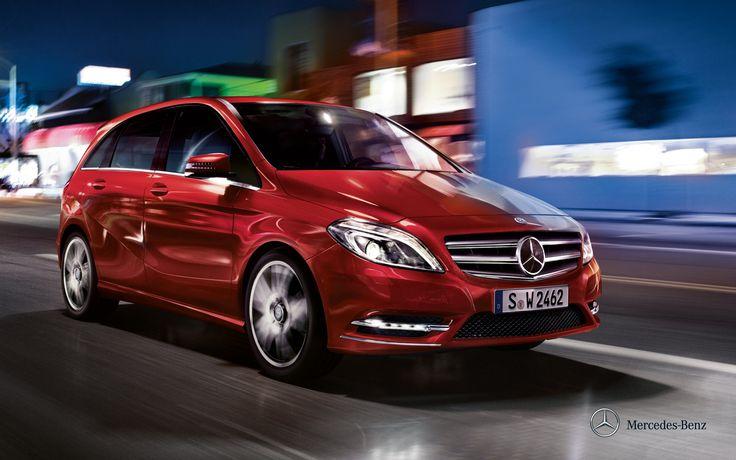 Mercedes-Benz B-Class. Fuel consumption combined: 6,3-4,4 l/100km, CO2 emissions combined: 147-114 g/km. #MBCars