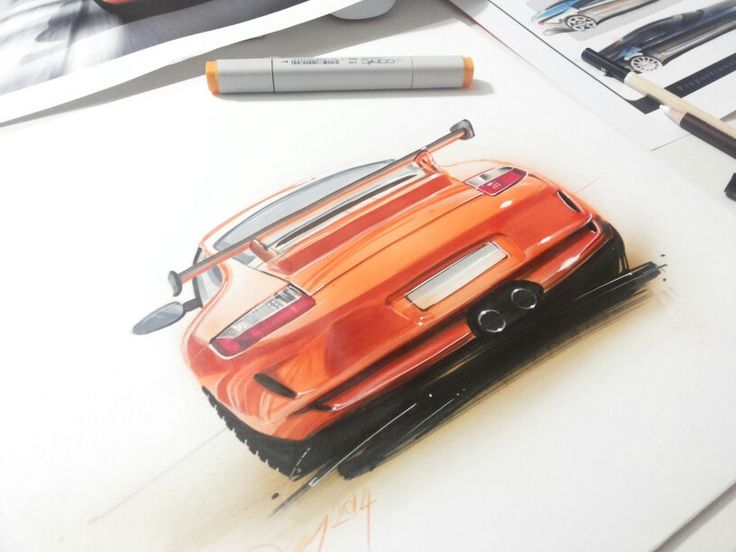 Sketch by Orhan Okay #copic #copicmarker #autodesign- my lecturer :)