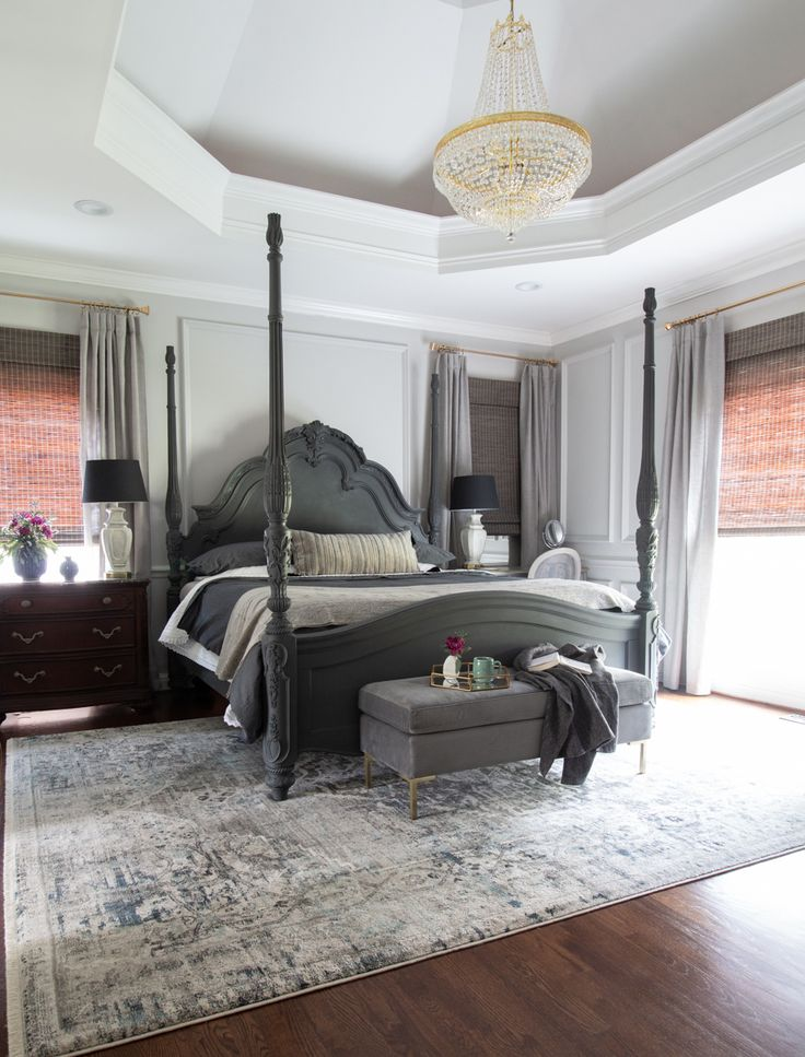 The Luxe Lifestyle Master Bedroom Reveal: One Room Challenge Shades Of Grey Master Bedroom Reveal. A