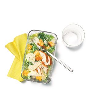 Quick Chicken Caesar Salad recipe: Store-bought rotisserie chicken breast makes this salad a snap to throw together.