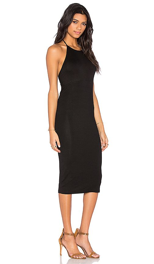 Shop for BLQ BASIQ Halter Midi Dress in Black at REVOLVE. Free 2-3 day shipping and returns, 30 day price match guarantee.