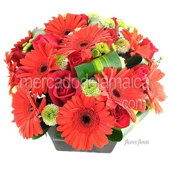 Flores Hermosas Gerberas Rojas| Envia Flores