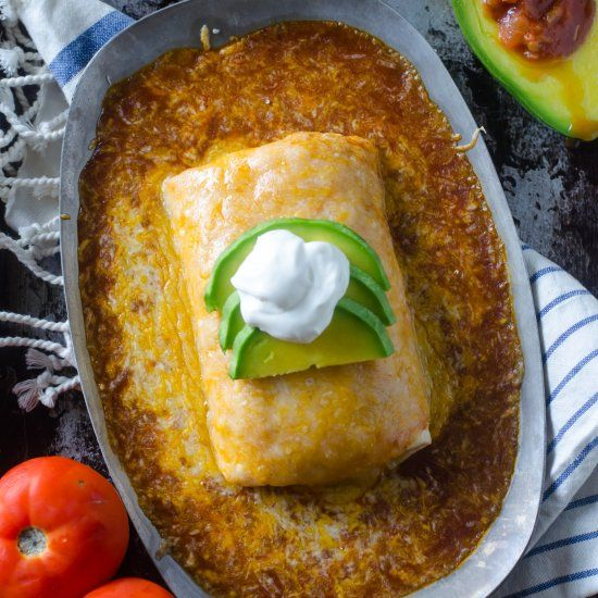 How much cheese can you handle? This Wet Burrito is smothered in it!