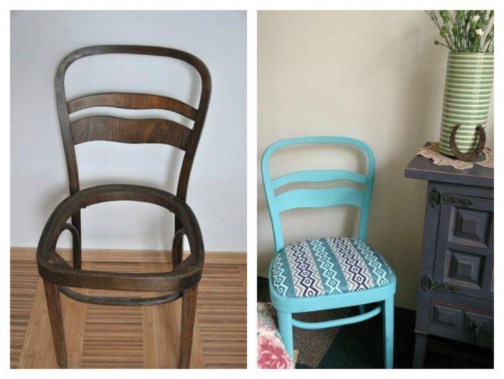 Krzesło gięte z lat 70. w stylu Art Deco otrzymało drugie życie!
