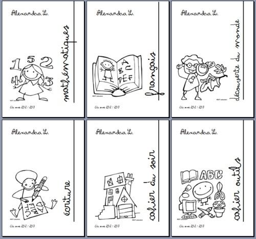 Pages de garde des cahiers 2012/2013