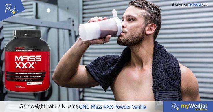 Gain weight naturally using GNC Mass XXX Powder Vanilla  #myWedjat #GNC #WeightGain  https://goo.gl/xdh3pE