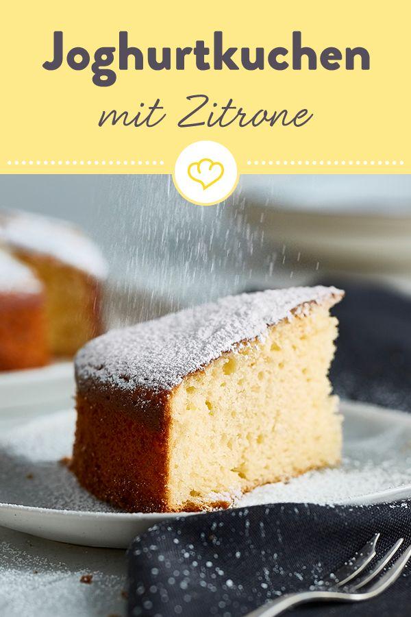 Saftiger Joghurt-Zitronen-Kuchen   – Wenn das Leben dir Zitronen gibt, mach diese Rezepte!