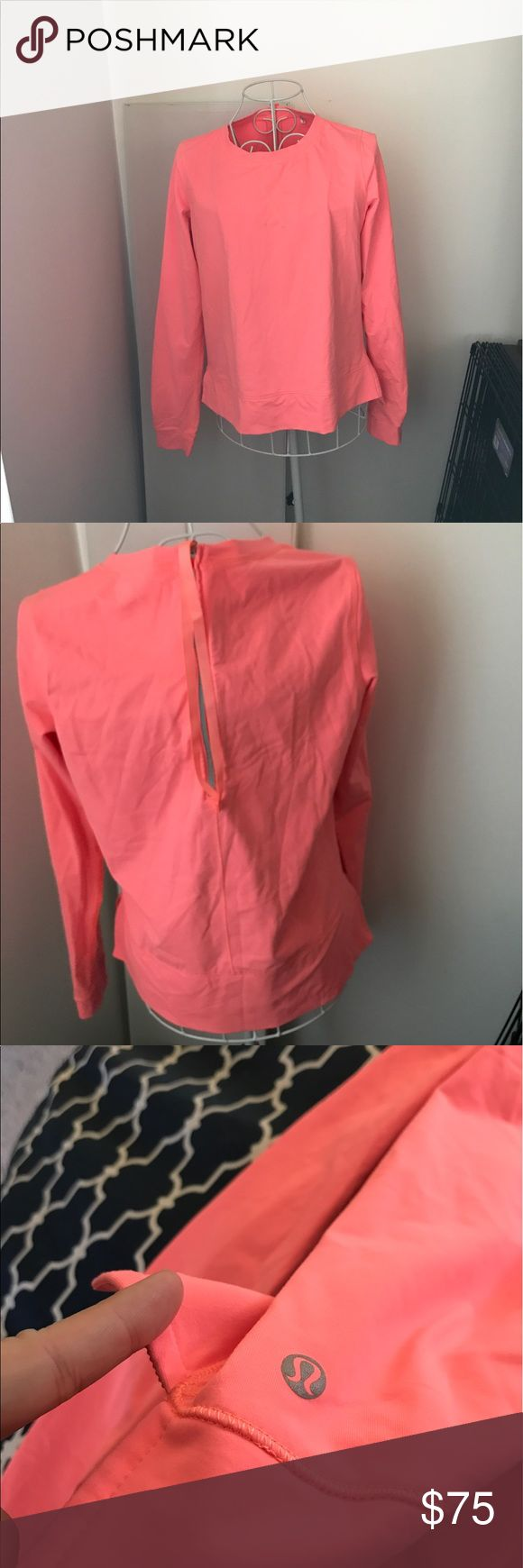 Lululemon back zip pullover Like new worm maybe twice. condition as shown and reflected in price. This item is in good condition but it has been worn please ask any questions before purchasing. This item will only be traded for an autographed Authentic Chanel original, a Lamborghini, a penthouse in Paris, or the services of an Audi mechanic. All orders will be recorded before shipping. I do not model. Please see my reasonable offer chart before submitting an offer. lululemon athletica Tops