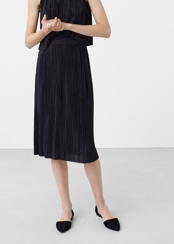 Pleated midi skirt - Skirts for Women | MANGO USA