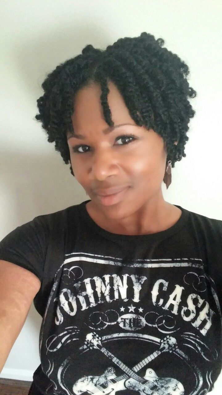 Two strand twist on natural hair