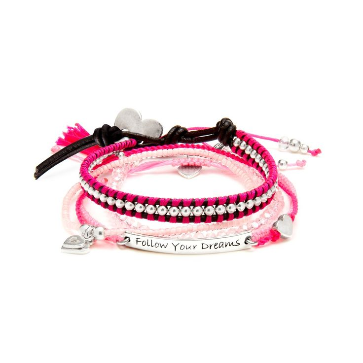 Precious Pink Friendship Bracelet Stack #StackWithAnnieHaak #AnnieHaakSS15
