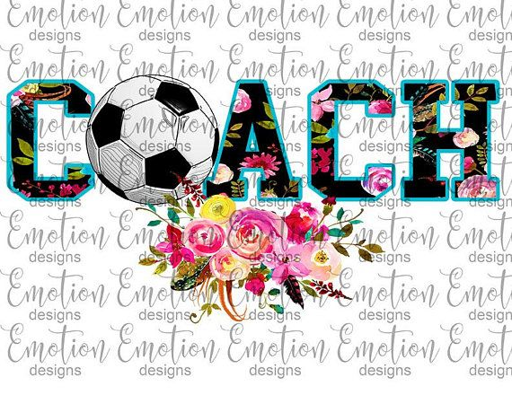 Soccer Coach Clipart Instant Download Sublimation Graphic Soccer Coaching Clip Art Instant Download