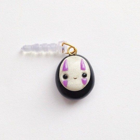 Spirited Away Kawaii No Face Phone Charm by SophysTreasures on Etsy https://www.etsy.com/listing/232013489/spirited-away-kawaii-no-face-phone-charm