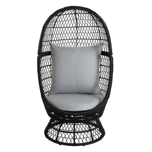 fauteuil oeuf en rotin anya avec coussins pas cher prix. Black Bedroom Furniture Sets. Home Design Ideas