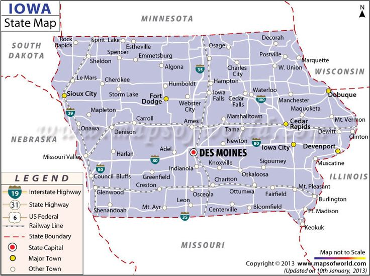 Best US States Images On Pinterest State Map Cities And Road - Road map of iowa