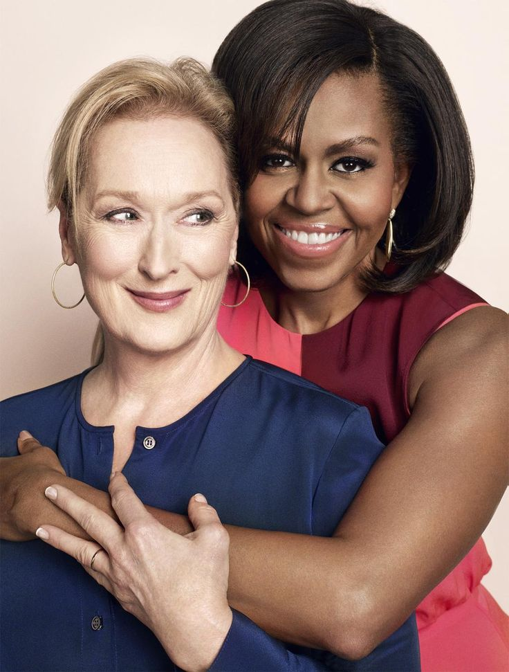first lady michelle obama and meryl streep in more magazine