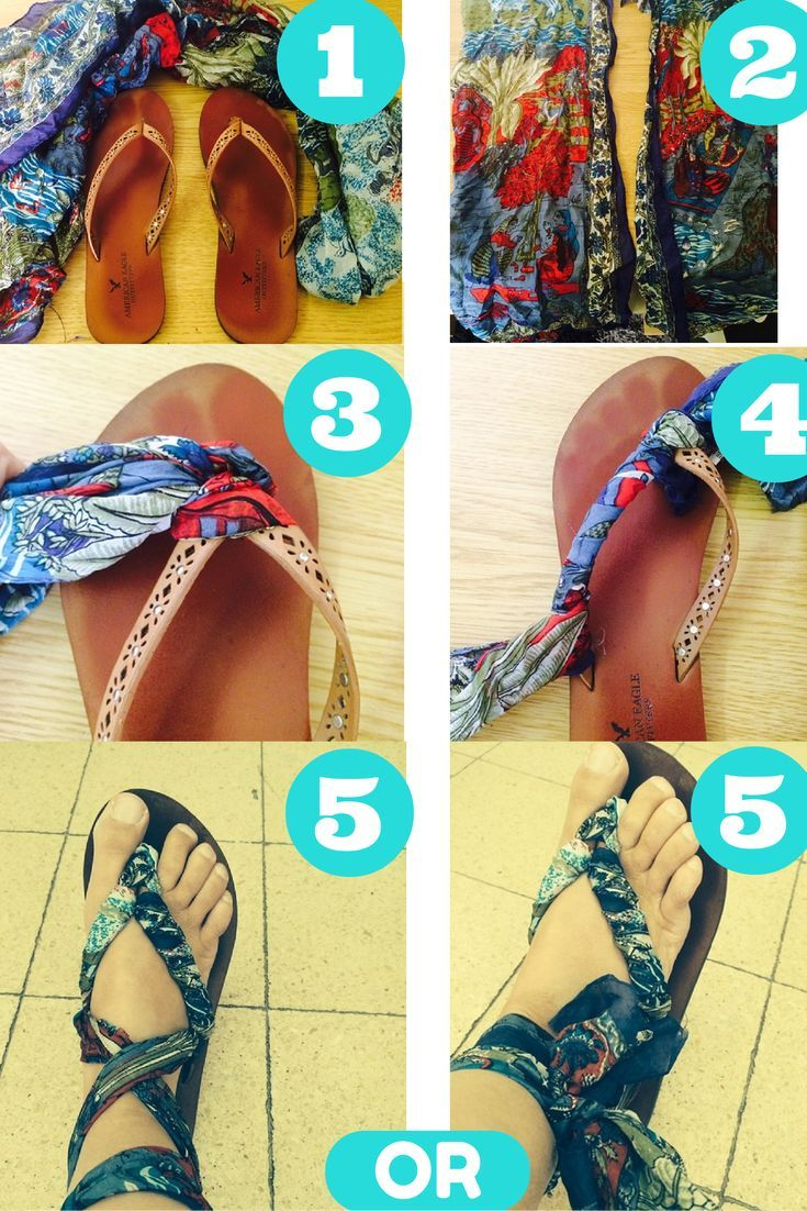Flip Flop Craft – How To Make Your Flip Flops Look Like New Sandals