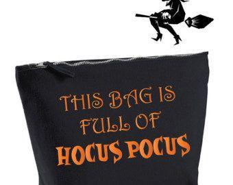 Questa borsa è piena di Hocus Pocus. Sacchetto di trucco di Halloween divertente. Hocus Pocus borsa. Sacchetto cosmetico. Sacchetto di trucco di strega. Regalo di Halloween.