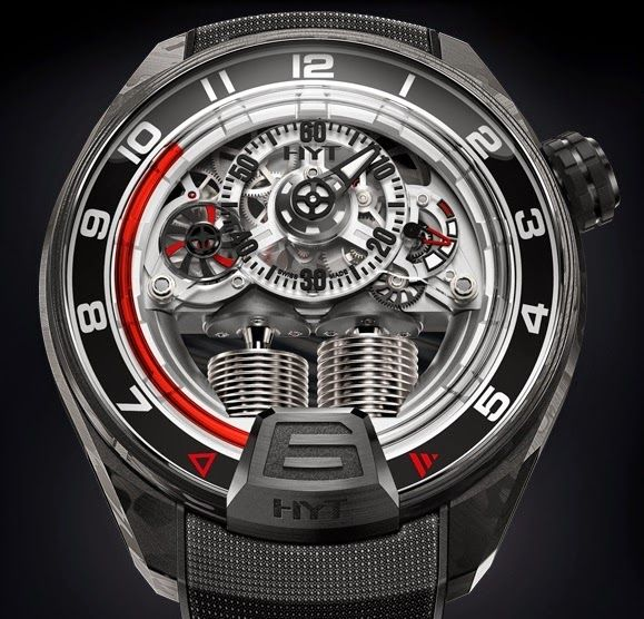 HYT - H4 GOTHAM.  An unique piece using the fluid mechanics.  #HYT #luxury #watches
