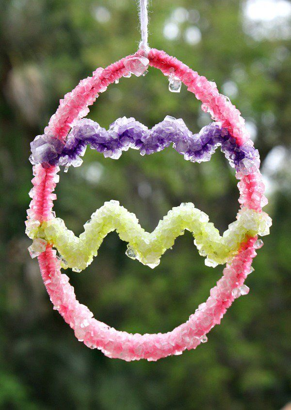 Learn how to make a crystal and create this beautiful Easter craft with kids.