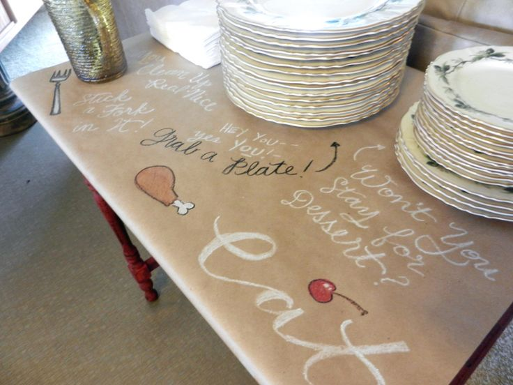 Brown Paper Table Cloth | The Postmanu0027s Knock