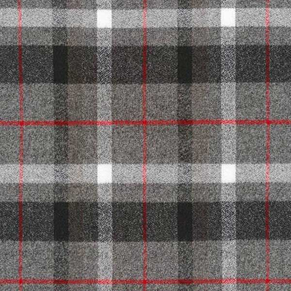 Robert Kaufman Fabrics Mammoth Flannel Shades of Grey Windowpane Plaid | Fabric