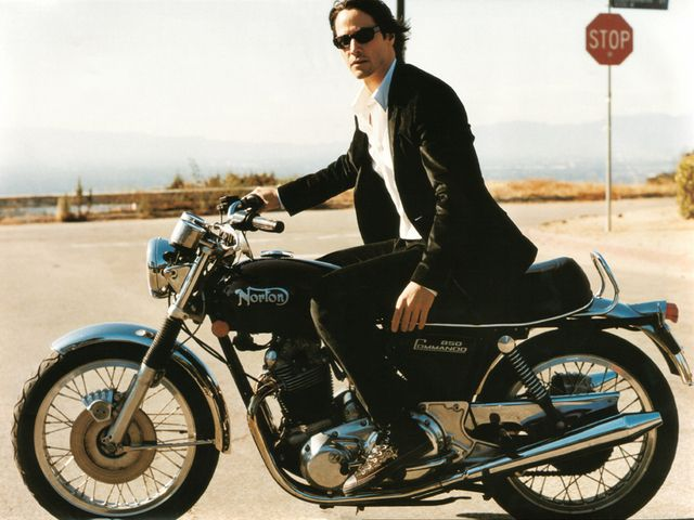 keanu reeves and a norton commando