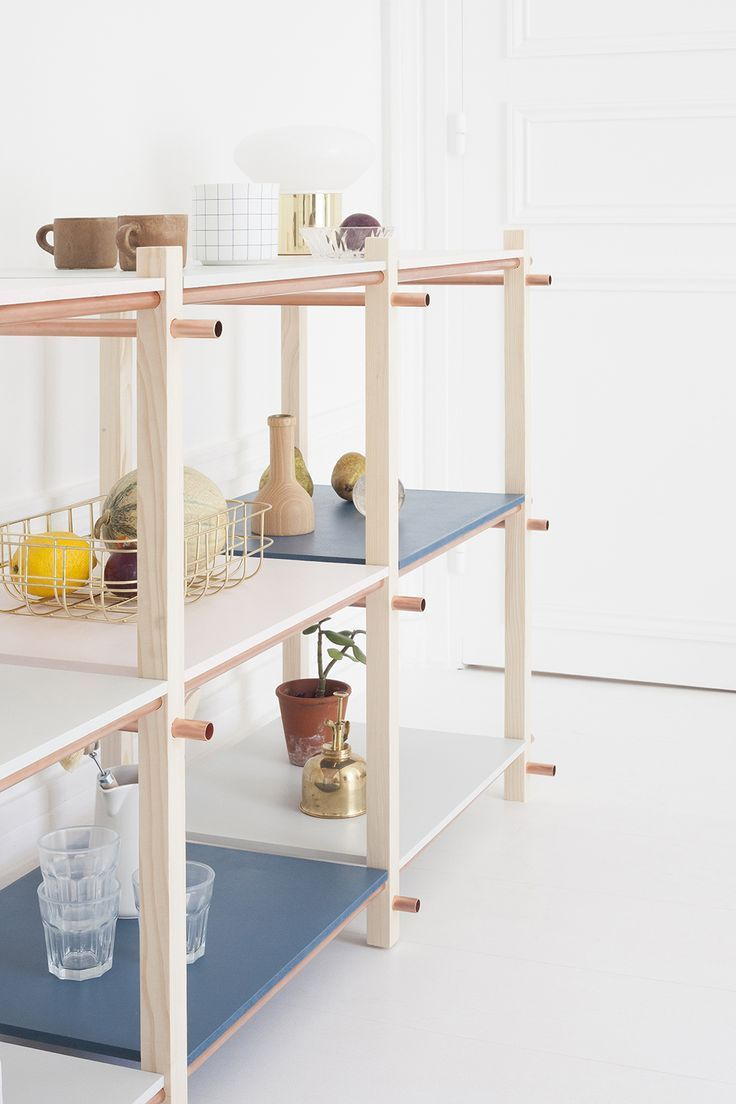 DIY Pastel Storage Shelving Unit - diy bibliotheque modulable heju-12