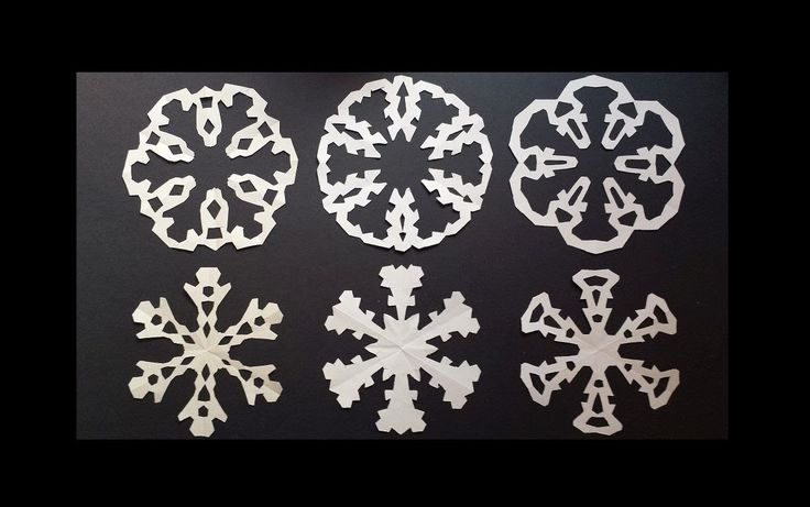Paper snowflake designs - how to make paired snowflakes in one cut - PaperCrafts