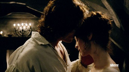 Pin for Later: 28 Times Outlander's Claire and Jamie Gave Us Unrealistic Relationship Goals When This Passionate Wedding-Night Kiss Has You All Hot and Bothered