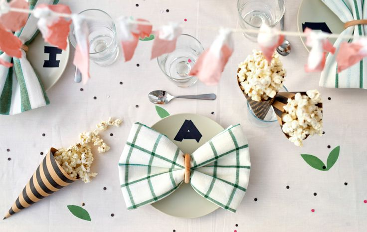 Adding your guest's initial to the place setting adds a personal touch.