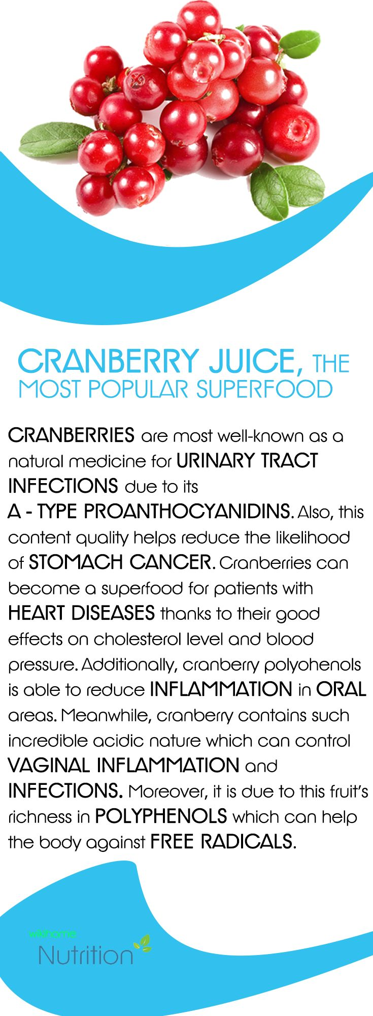 Cranberry juice, the most popular superfood