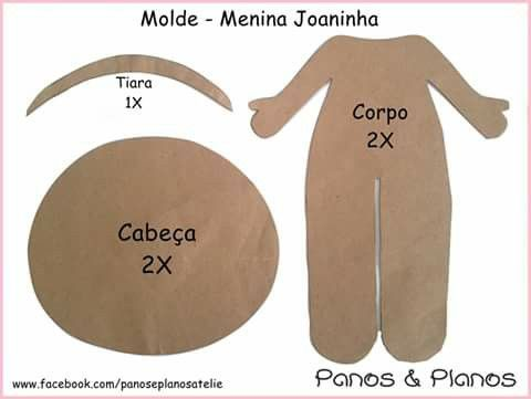 Molde 02 - menina joaninha