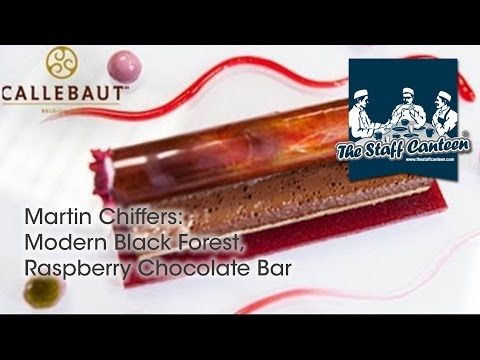 Modern Black Forest, Raspberry Chocolate Bar - Recipe and plating tips from Chef Martin Chiffers - YouTube
