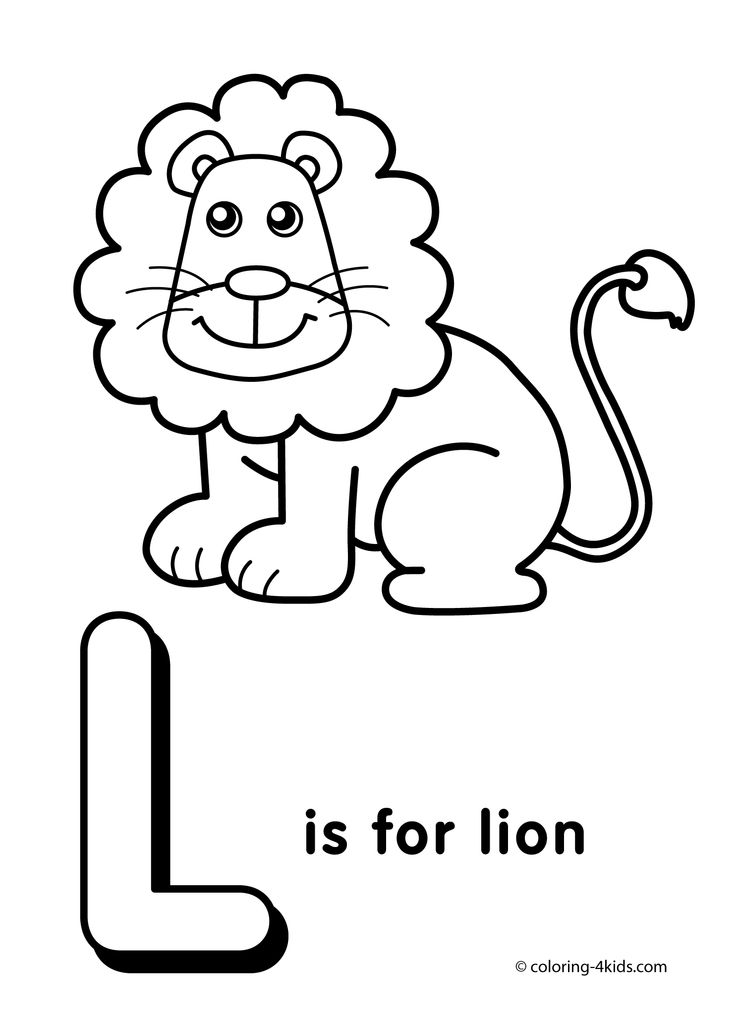 Letter L Coloring Page Alphabet Pages Activities Letters Printable