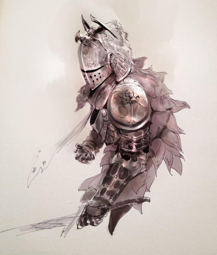 • Illustration art concept armor Knights kekai-k •