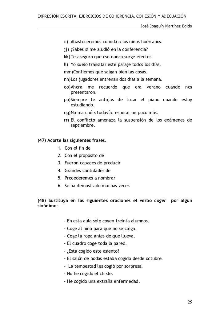 Ejercicios Coherencia Y Cohesión Personalized Items Person