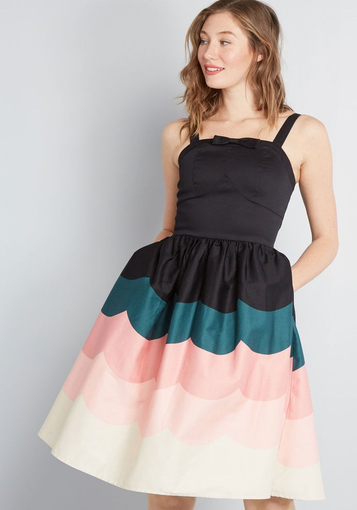 Wave Hello Fit and Flare Dress