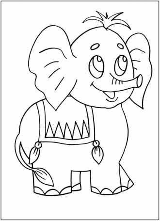 Слоненя | Раскраски, Детские песни, Сказки
