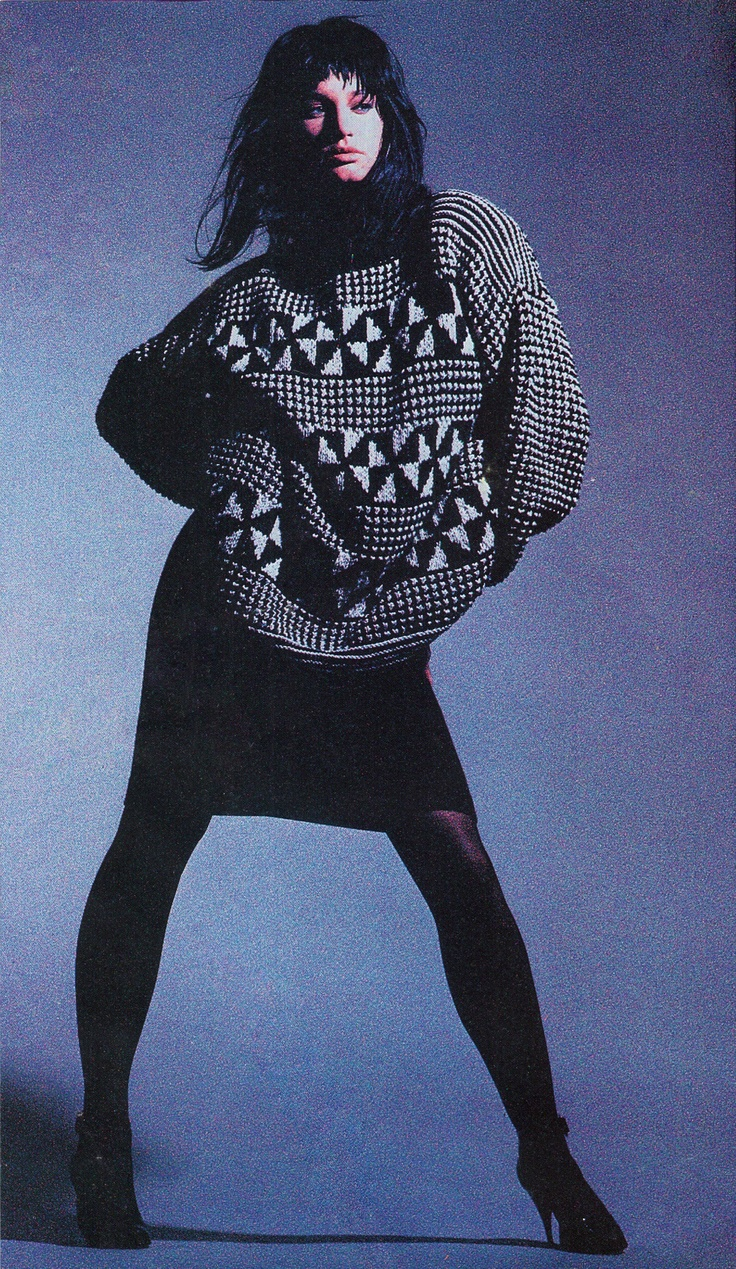 Harpers & Queen1985. I remember this jumper.