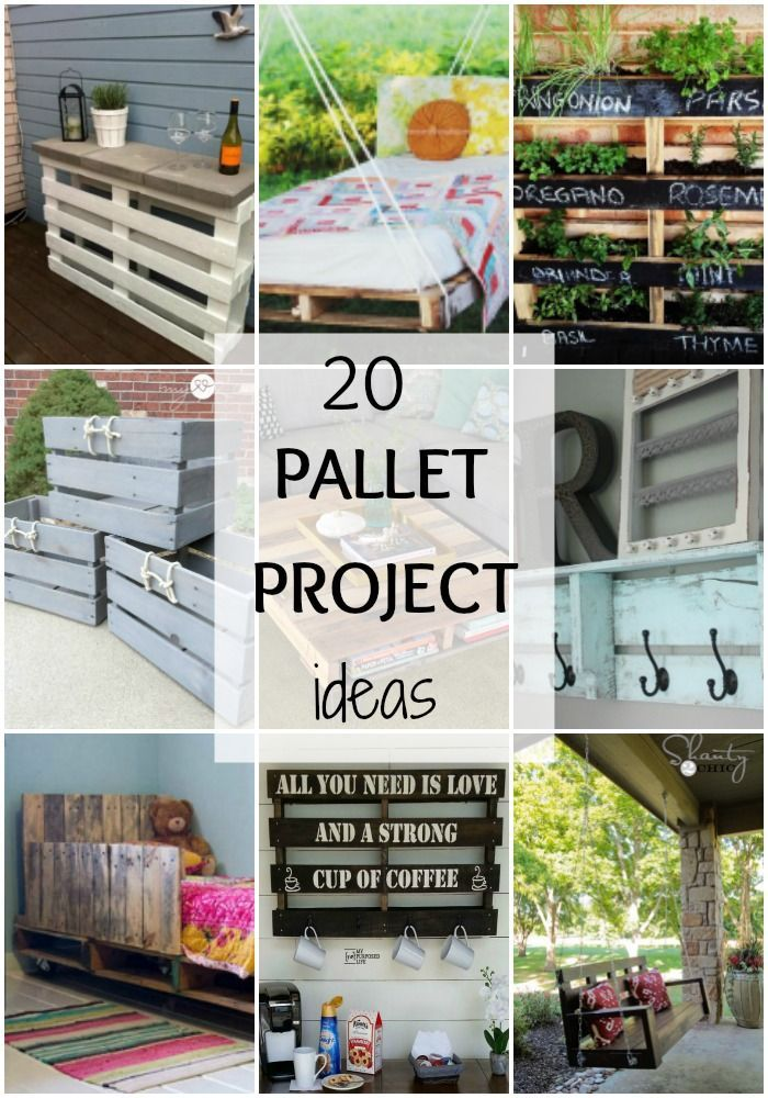 We've got 20 amazing pallet projects for your home to DIY. From beds to herb…