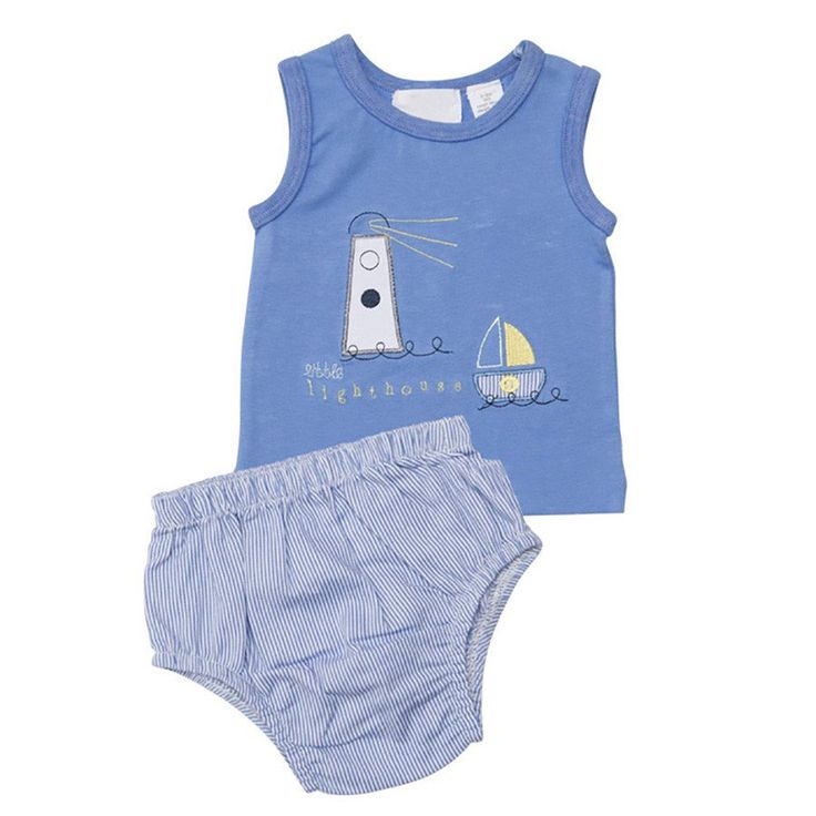 Little Lighthouse Singlet and Pants LS4016 CS - Clothing - boys - Baby Belle