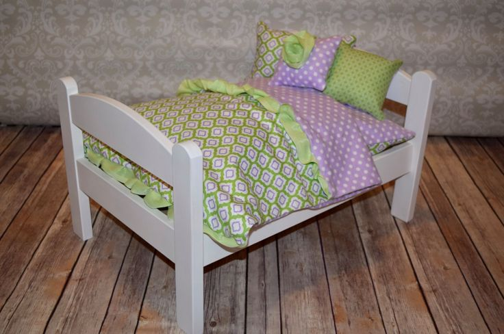 American Girl Doll Bed Purple Trellis by MyFairCottage on Etsy