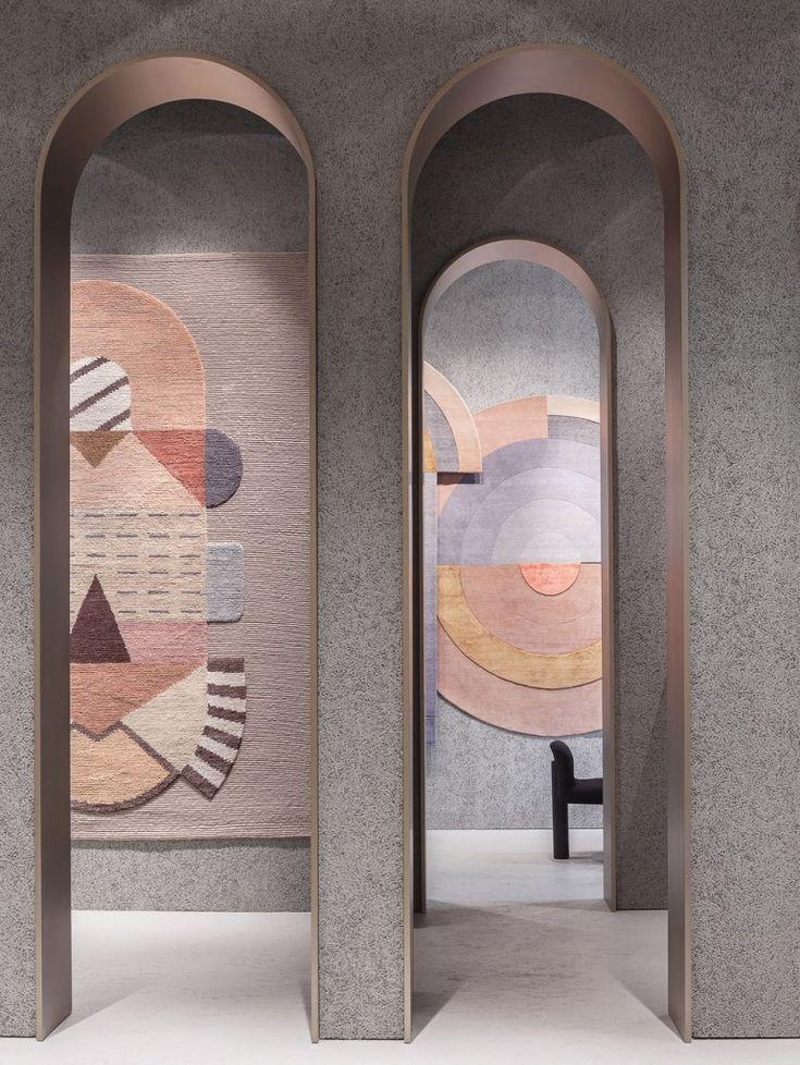 Elena Salmistraro's Cartesio (left) for cc-tapis