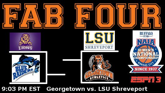 No. 13 Tigers in 13th Fab Four game, against LSU Shreveport.