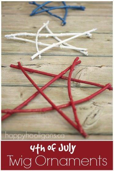 4th of July Twig Ornaments - Happy Hooligans