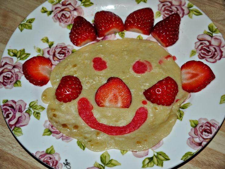 Strawberry Face Pancake