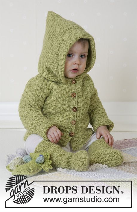 Green Leaf / DROPS Baby 14-3 – Jacket, Romper and …