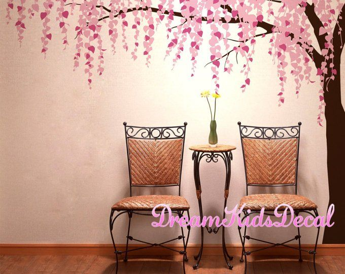 Japanese Pink Cherry Blossom Tree With Butterflies Removable Vinyl Wall Decal Sticker Bedroom Room Art Home Decor Home Decor Buy Wall Decor Bedroom Diy